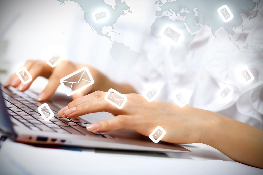 email mensagem contato